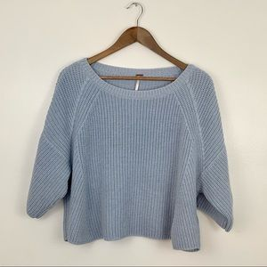 Free People blue cotton blend sweater size M